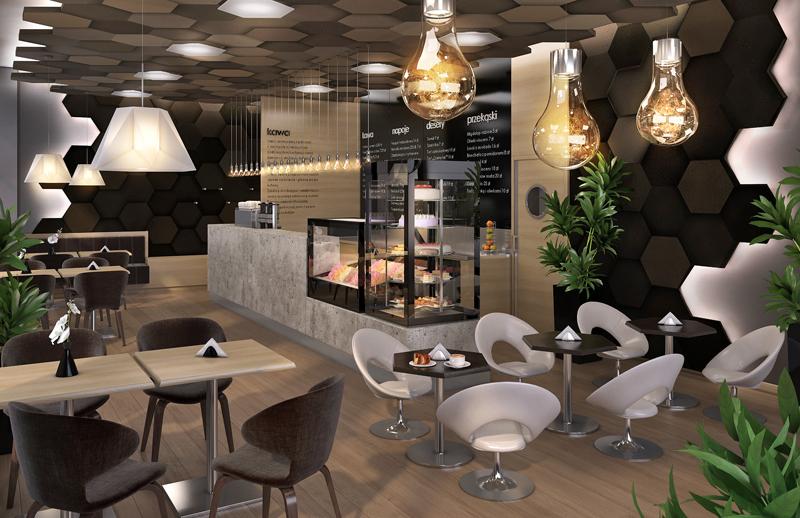 Kawiarnia wstylu futurystycznym