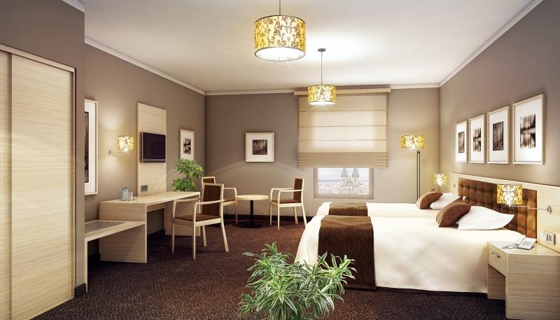 Hotelowy pokój zaprojektowany przezPrownes