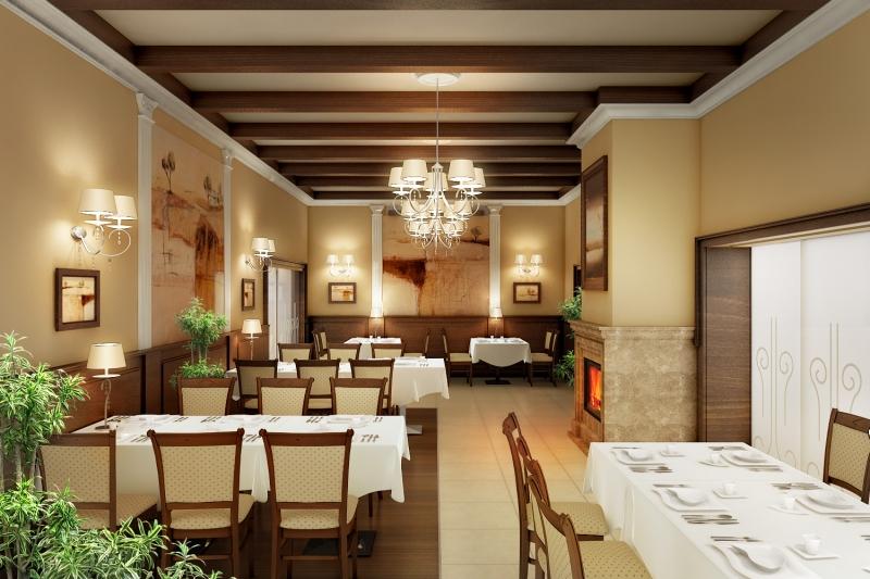 Kolor wnętrza restauracji
