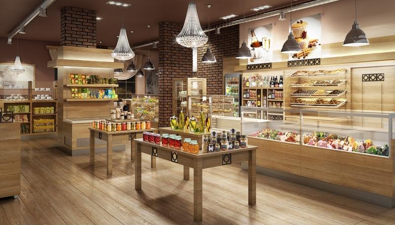 Sklep delikatesowy Gliwice - aranżacje sklepów
