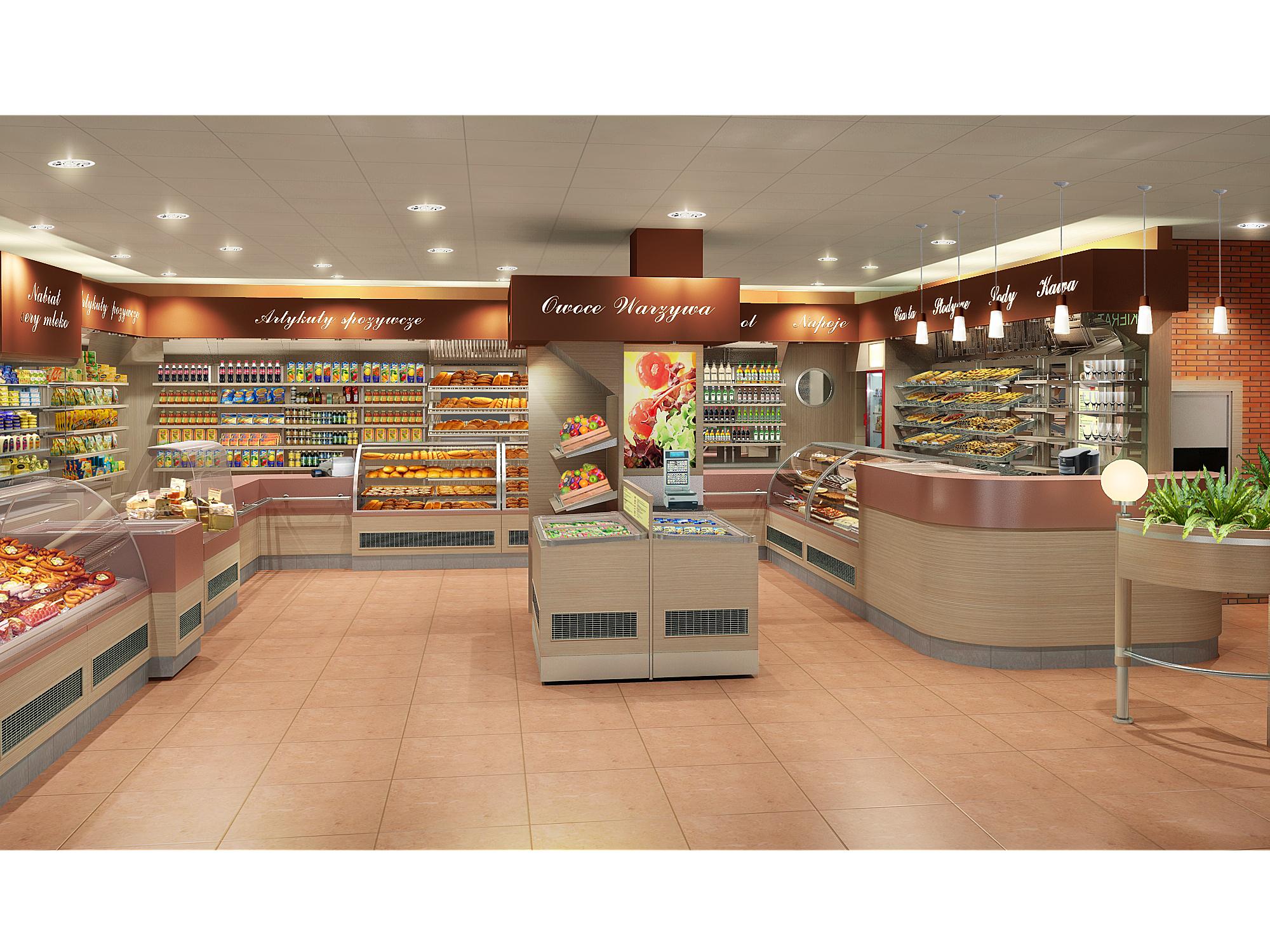 Wyposażenie sklepu spożywczo delikatesowego