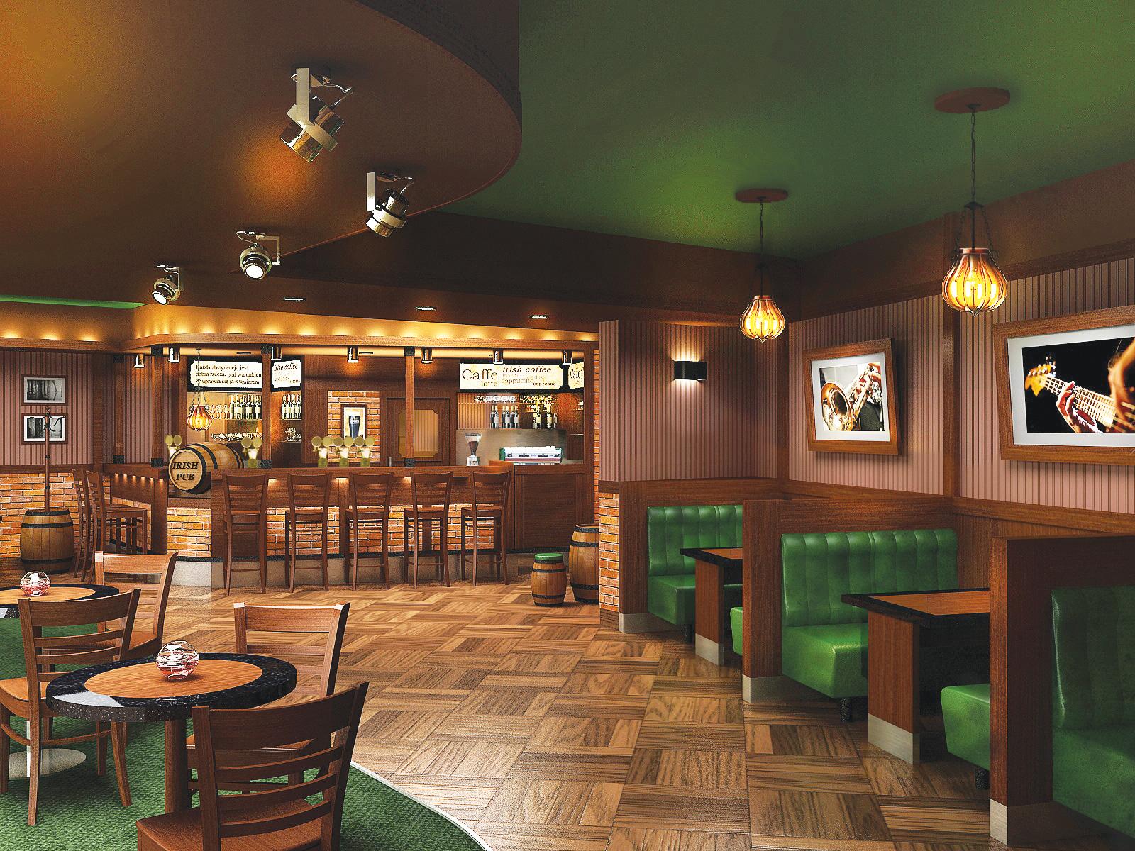 Pub wstylu irlandzkim