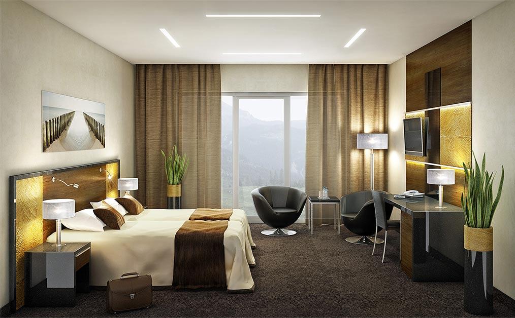 Pokój hotelowy Hotelu Belvedere