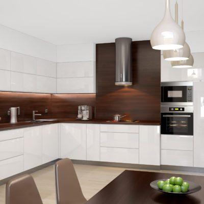 kuchnia w prywatnym mieszkaniu