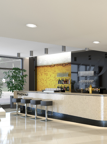 Recepcja Hotelu Pivovar wCzechach