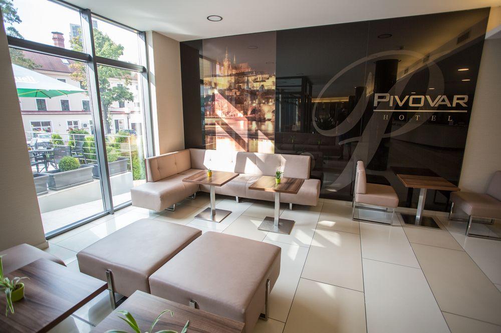Lobby w hotelu Pivovar w Pradze