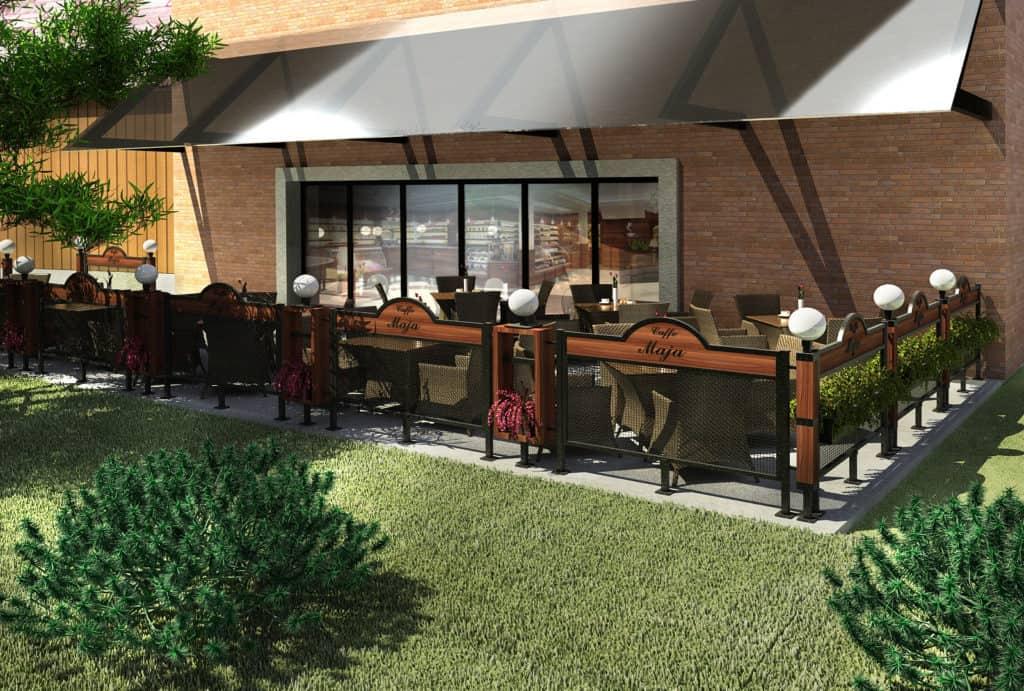 Ogródek letni Kawiarni wPobiedziskach